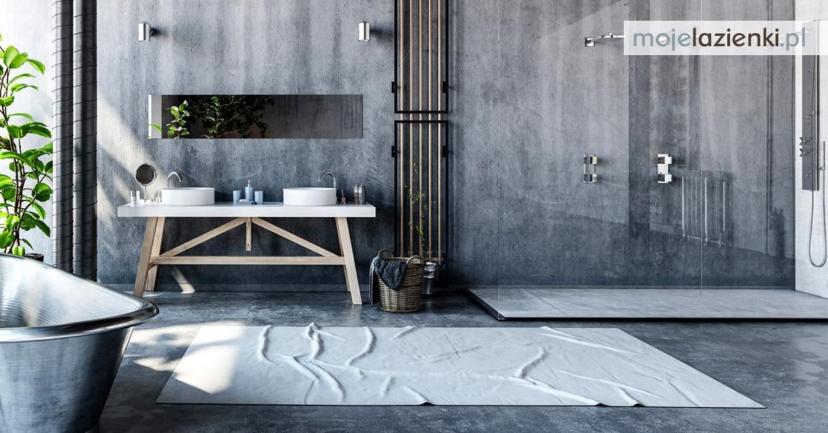 Aranżacja szarej łazienki w stylu industrialnym